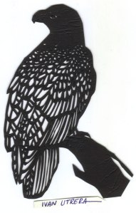 aguila paper cut