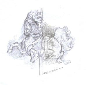 caballo a lapiz